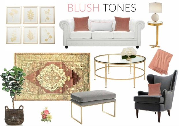 Blush Tones Mood Board