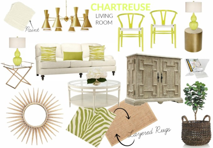 Chartreuse Living Room