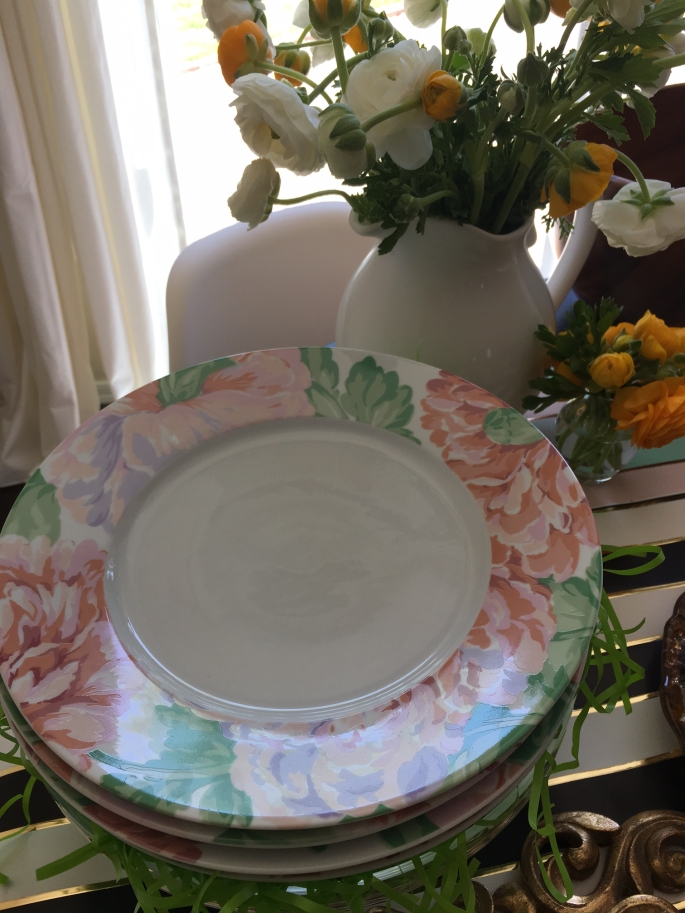 Plates and Flowers