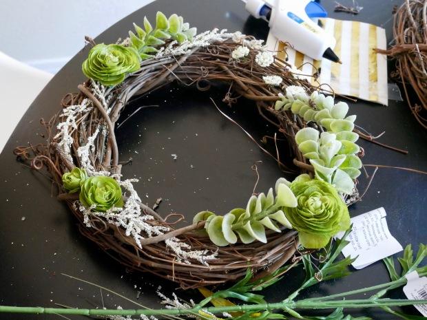 Julia's Wreath - Progress