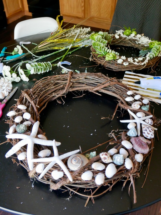 My Wreath - Finished on Table
