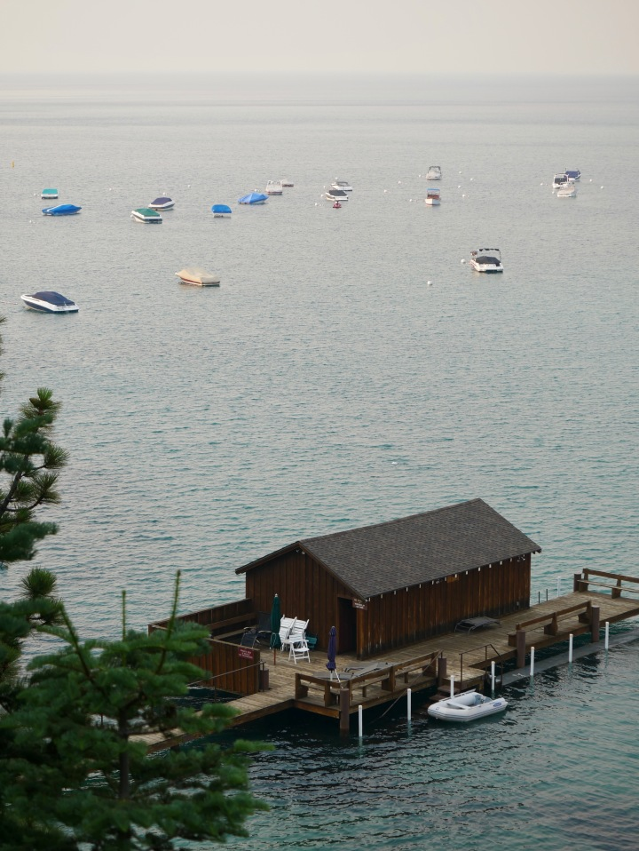 Boathouse and boats
