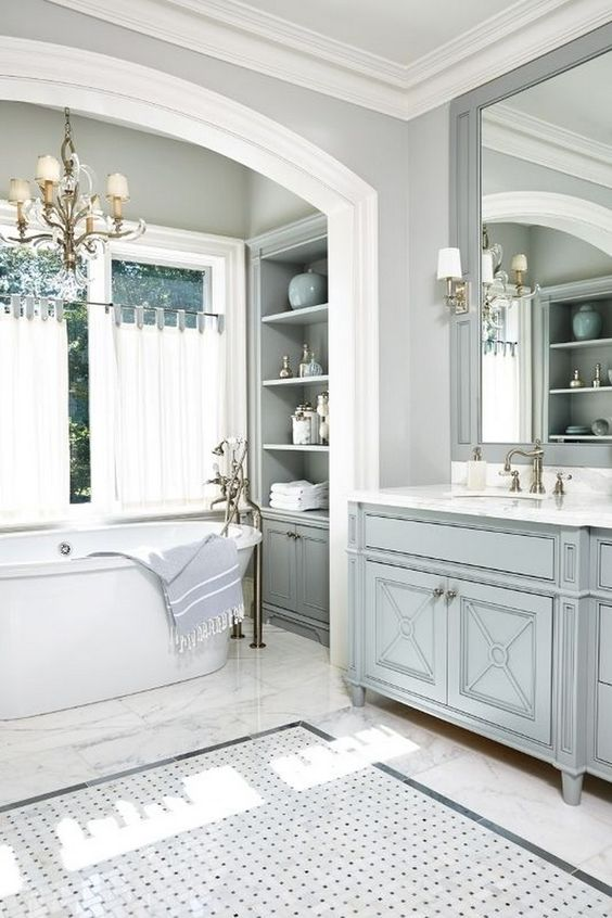 Master Bath via South Shore Decorating Blog