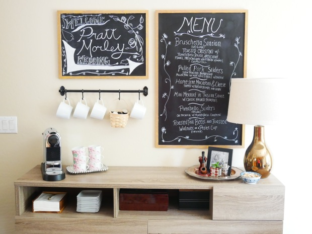Inexpensive DIY Coffee Station {Details Blog}