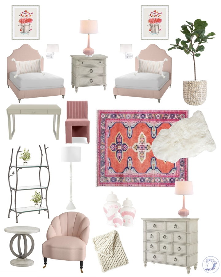 Friday Room Inspiration: Girly Tween Double Bedroom {Details Blog}